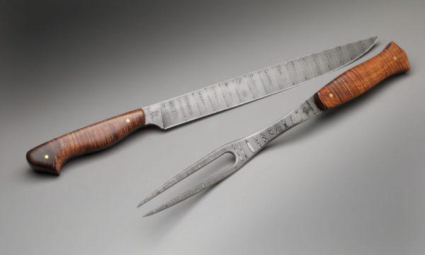 Carving Pair Koa High Carbon Steel Chef Knife