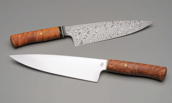 High End Kitchen Pair Of Chef Knives
