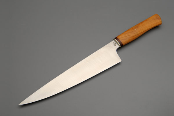 "10"" High Carbon Steel Chef Knife With Tasmanian Huon Pine"