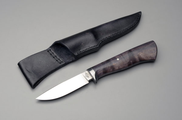 """4"""" Drop Point Hunting Knife With Black Dyed Maple"""