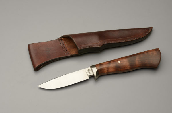 """4"""" Drop Point Hunter Knife With Brown Dyed Maple"""
