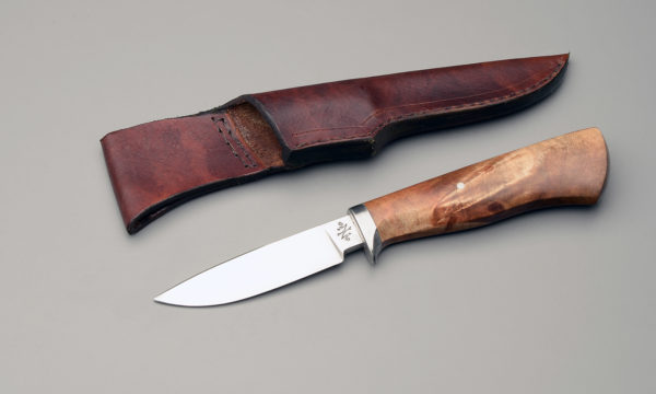 "4"" Drop point Hunter Knife With Rock Maple Crotch"