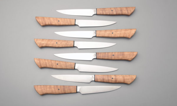 "8"" High Carbon Forged Steel Steak Knife Set"