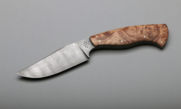 Peregrine Damascus & Maple Burl Best High End Kitchen Knives