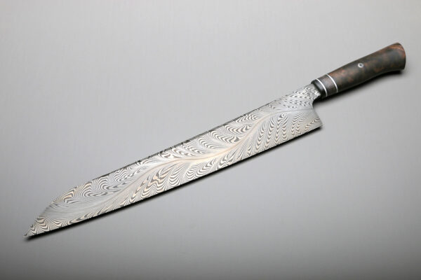 Gyuto River Of Fire Design 300mm Chef Knife