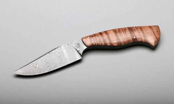 Custom Peregrine Damascus With Curly Maple Blade